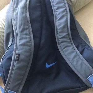 dae1550a9c Nike Bags - Nike Light Blue   Gray Backpack Velcro straps